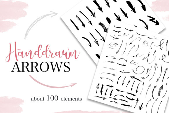 Handdrawn Arrows Collection Graphic By switzershop
