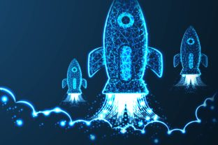 Rocket Launch. Business Startup Concept, Graphic By ojosujono96