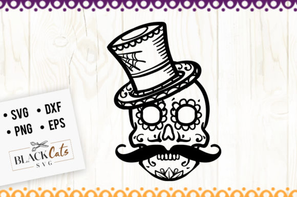 Sugar Skull 7 SVG Graphic Crafts By BlackCatsMedia