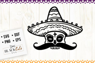 Download Free Sugar Skull And Sombrero Svg Graphic By Blackcatsmedia for Cricut Explore, Silhouette and other cutting machines.