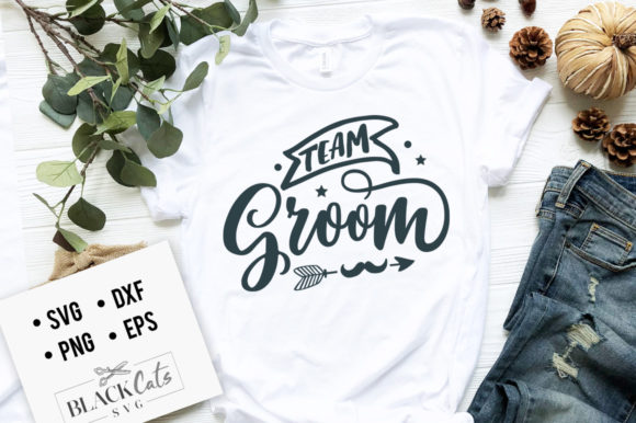 Download Free Team Groom Graphic By Blackcatsmedia Creative Fabrica for Cricut Explore, Silhouette and other cutting machines.
