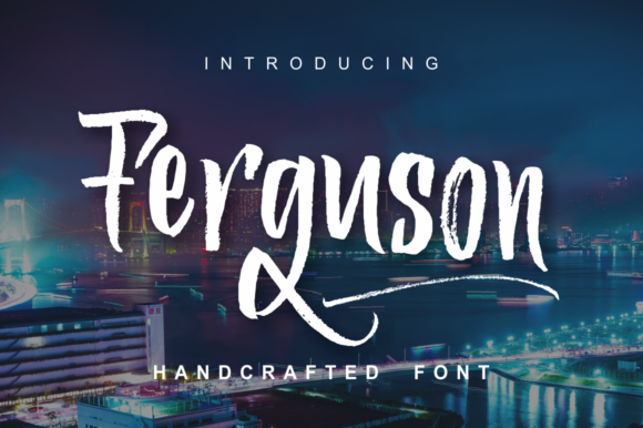 Print on Demand: Ferguson Script & Handwritten Font By screen letter