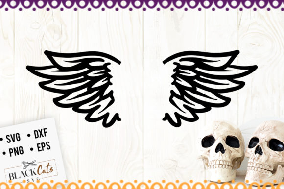 Download Free Wings Graphic By Blackcatsmedia Creative Fabrica for Cricut Explore, Silhouette and other cutting machines.
