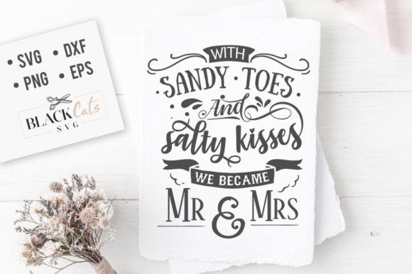 With Sandy Toes SVG Graphic Crafts By BlackCatsMedia