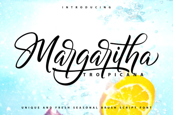 Print on Demand: Margaritha Tropicana Script & Handwritten Font By Vunira