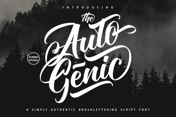 Print on Demand: Autogenic Script & Handwritten Font By Vunira - Image 1