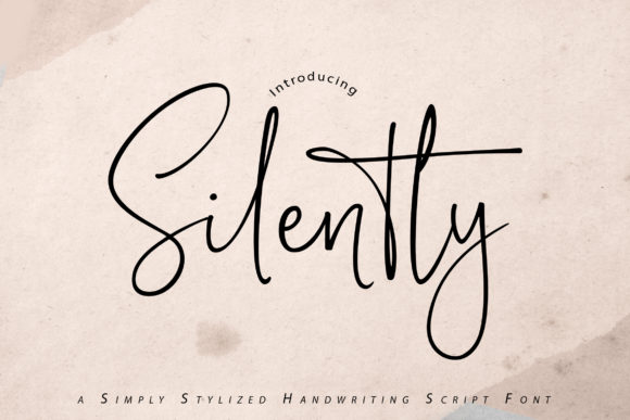 Print on Demand: Silently Script & Handwritten Font By Vunira