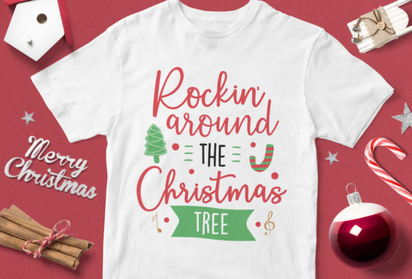 Print on Demand: Rokin' Around the Christmas Tree Graphic Illustrations By svgsupply