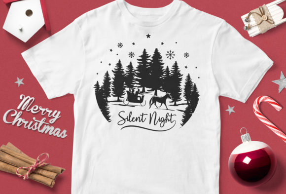 Silent Night Graphic By svgsupply Image 1