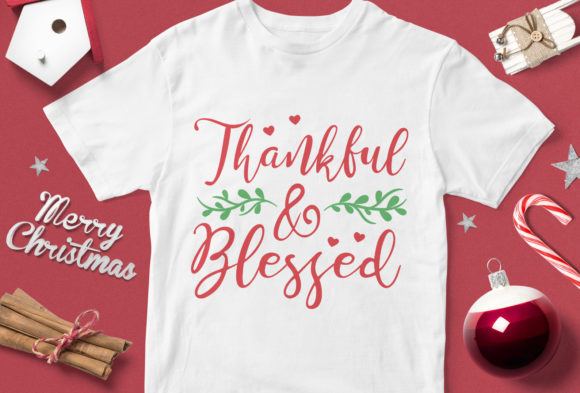 Print on Demand: Thankful & Blessed Graphic Illustrations By svgsupply