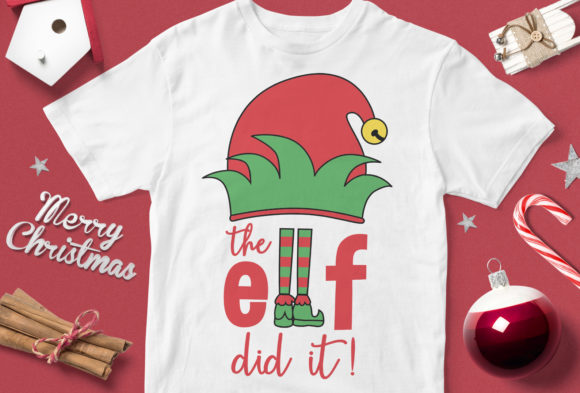 Print on Demand: The Elf Did It Graphic Illustrations By svgsupply