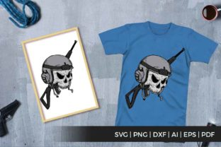 Print on Demand: Skull and Gun Graphic Illustrations By svgsupply