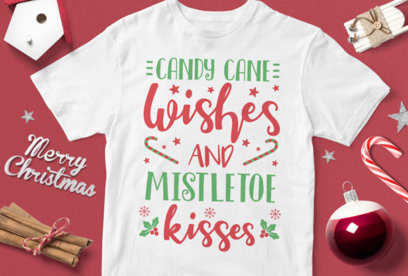 Download Free Candy Cane Wishes And Mistletoe Kisses Graphic By Svgsupply for Cricut Explore, Silhouette and other cutting machines.