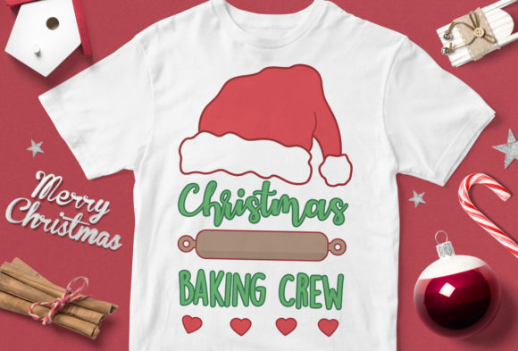 Print on Demand: Christmas Baking Crew Graphic Illustrations By svgsupply