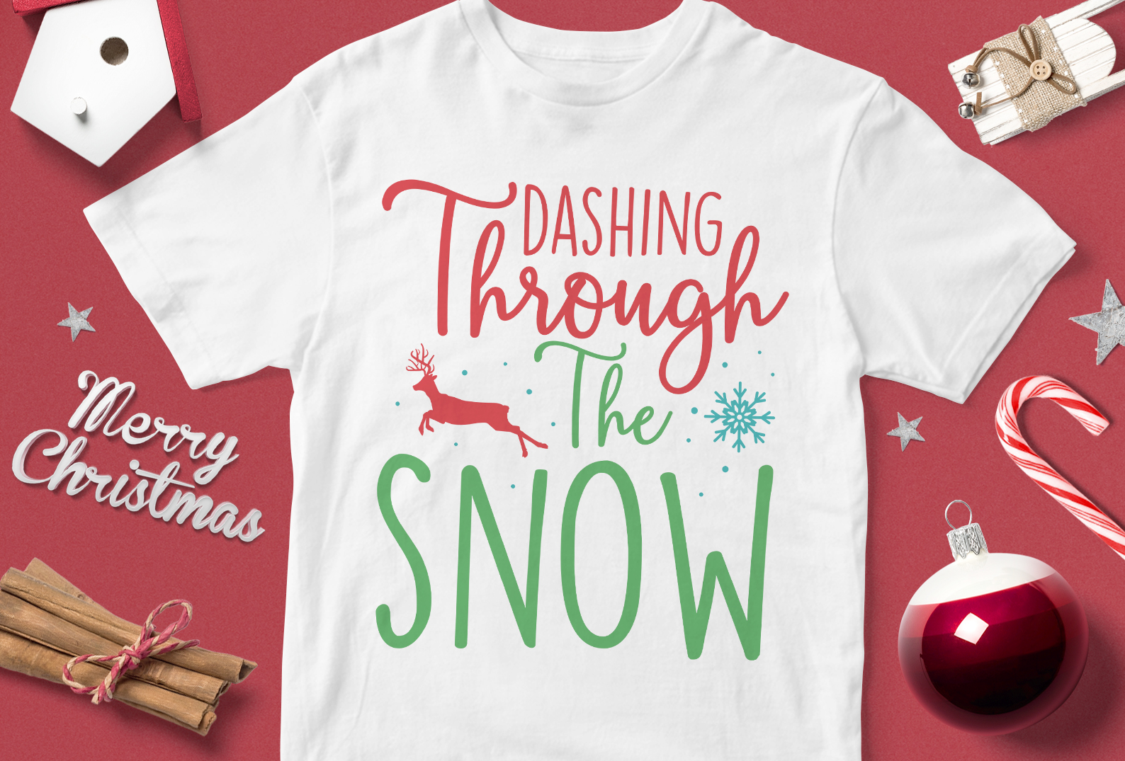 Download Free Dancing Trough The Snow Graphic By Svgsupply Creative Fabrica for Cricut Explore, Silhouette and other cutting machines.