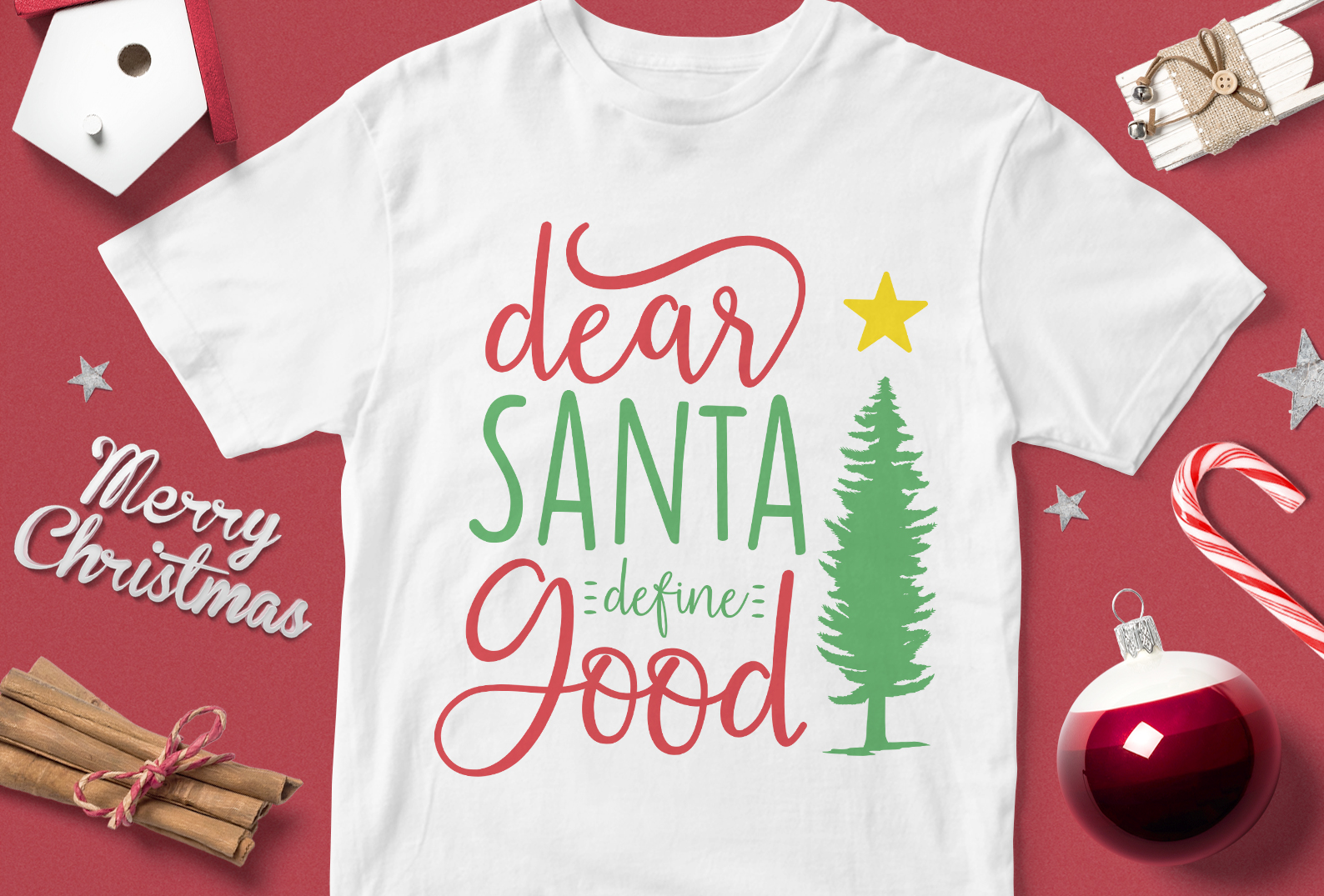 Download Free Dear Santa Define Good Graphic By Svgsupply Creative Fabrica for Cricut Explore, Silhouette and other cutting machines.