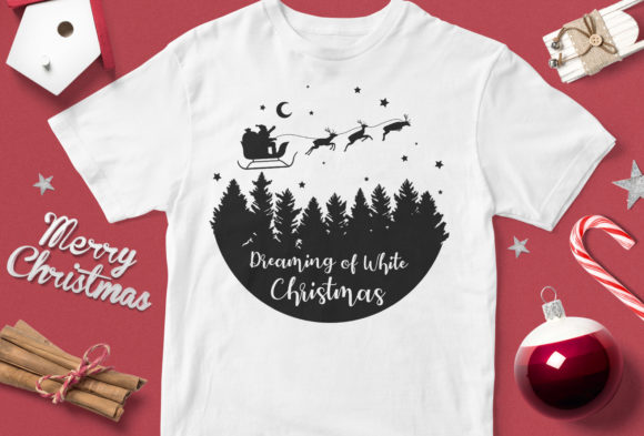 Print on Demand: Dreaming of White Christmas Graphic Illustrations By svgsupply - Image 1