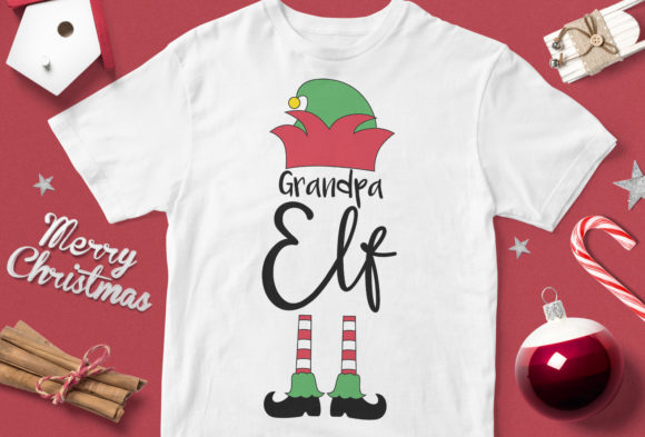 Print on Demand: Grandpa Elf Graphic Illustrations By svgsupply
