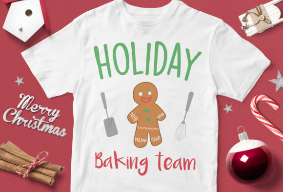 Print on Demand: Holiday Baking Team V3 Graphic Illustrations By svgsupply