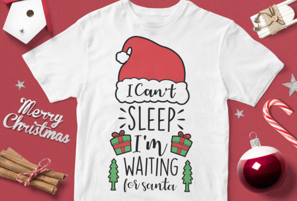 Print on Demand: I Can't Sleep I'm Waiting for Santa Graphic Illustrations By svgsupply