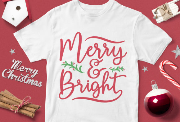 Print on Demand: Merry & Bright Graphic Illustrations By svgsupply