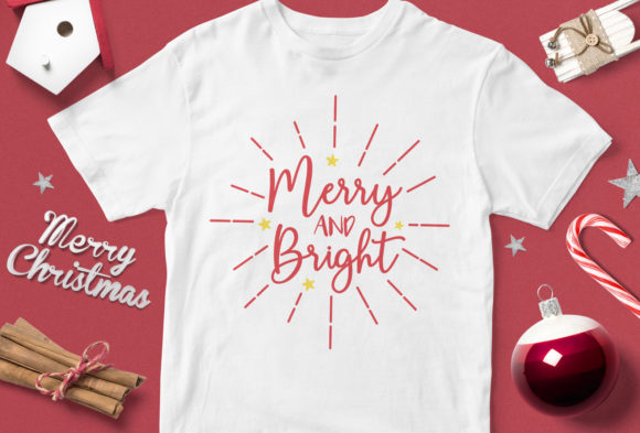 Print on Demand: Merry and Bright Graphic Illustrations By svgsupply