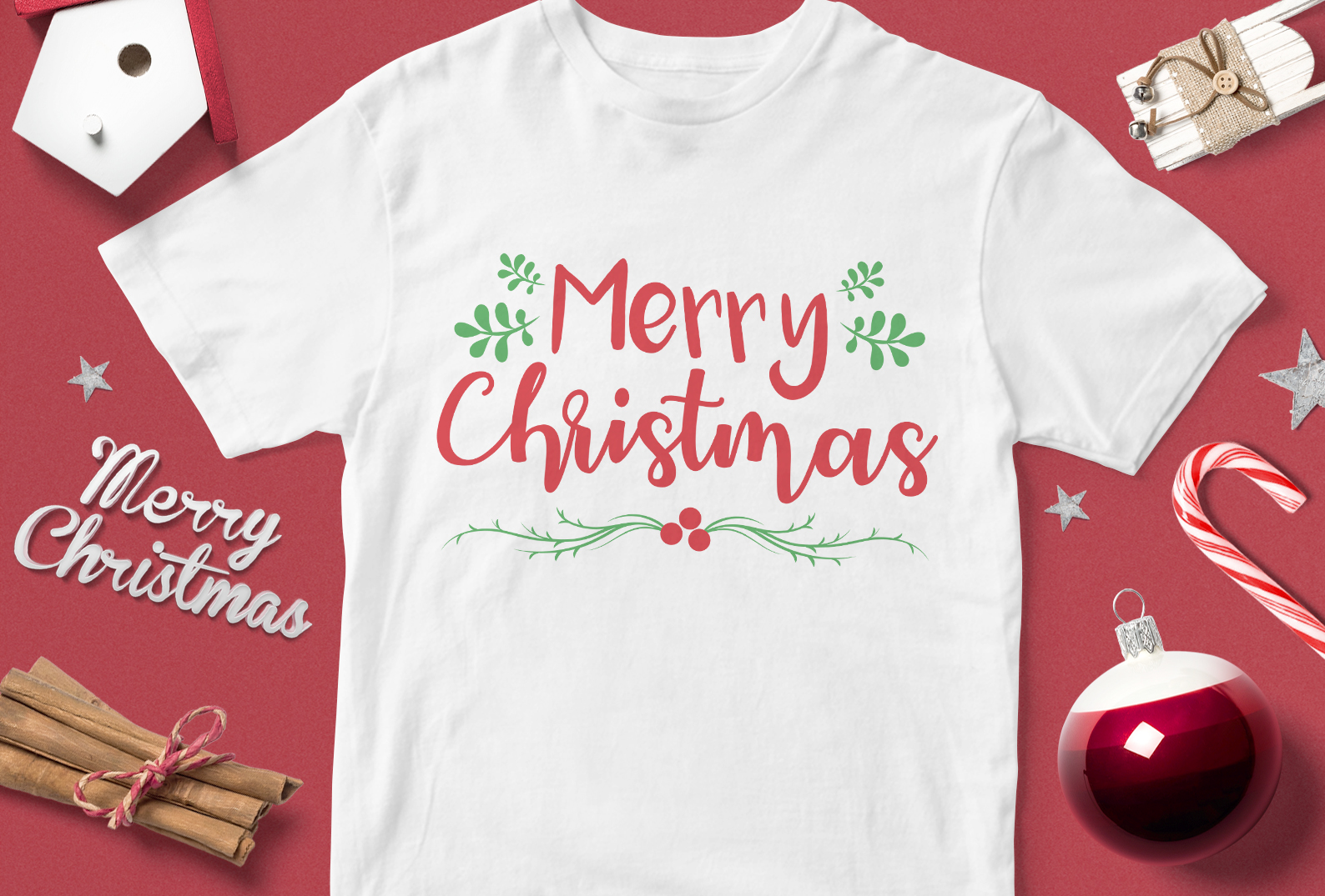 Download Free Merry Christmas Graphic By Svgsupply Creative Fabrica for Cricut Explore, Silhouette and other cutting machines.