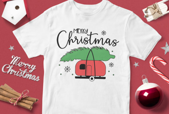 Print on Demand: Merry Christmas V4 Graphic Illustrations By svgsupply