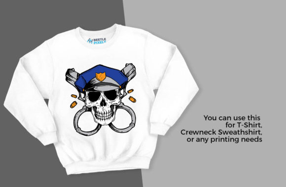Skull Police Graphic Download