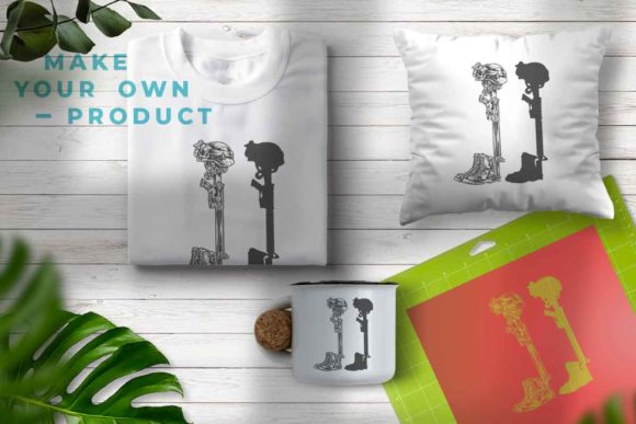 Print on Demand: Military Fallen Soldier Graphic Illustrations By svgsupply - Image 3