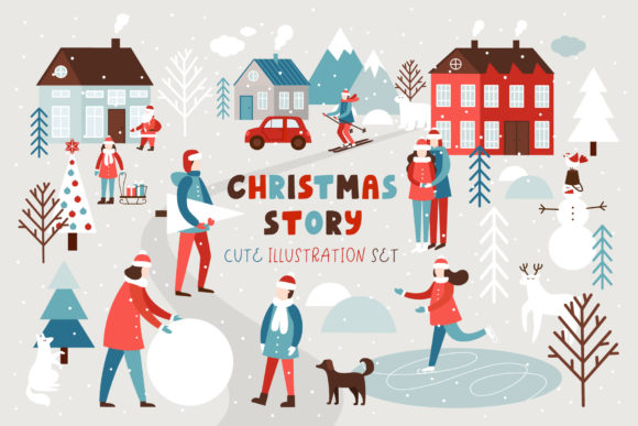 Christmas Story Graphic Illustrations By Juliya Kochkanyan
