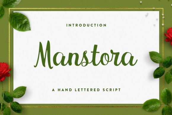 Print on Demand: Manstora Script & Handwritten Font By Solidtype