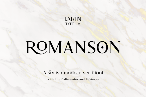Print on Demand: Romanson Serif Font By Pasha Larin
