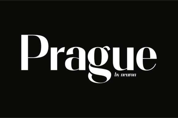 Print on Demand: Prague Display Font By neurontype