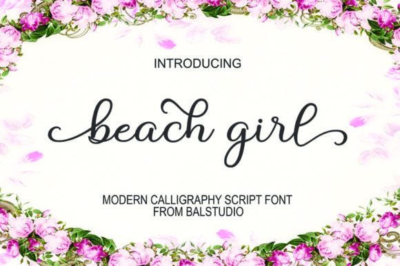 Print on Demand: Beach Girl Manuscrita Fuente Por Bal Studio