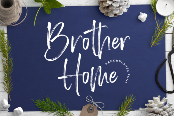 Print on Demand: Brother Home Script & Handwritten Font By Letteralle
