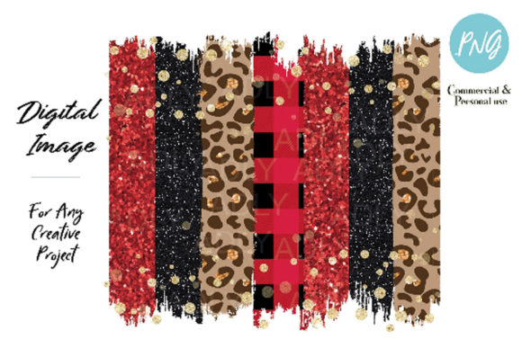 Red Black Leopard Brush Strokes Graphic By adlydigital Image 1
