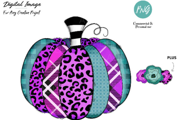Print on Demand: Purple Pumpkin Fall Graphic Illustrations By adlydigital - Image 1