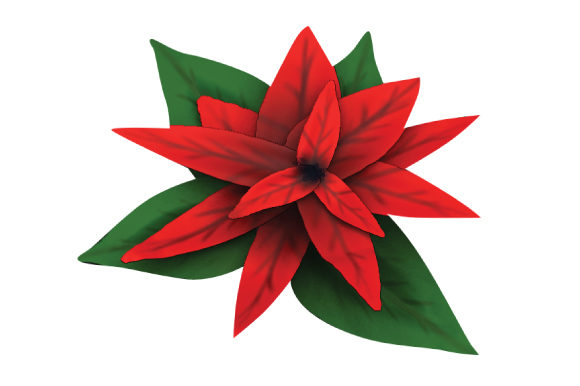 Download Free Poinsettia 3d Looking Svg Cut File By Creative Fabrica Crafts SVG Cut Files