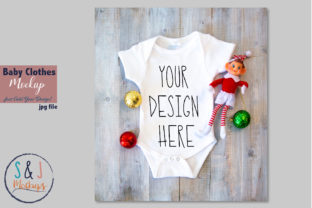 Download Free Christmas Baby Bodysuit Mockup Graphic By Sandjmockups for Cricut Explore, Silhouette and other cutting machines.