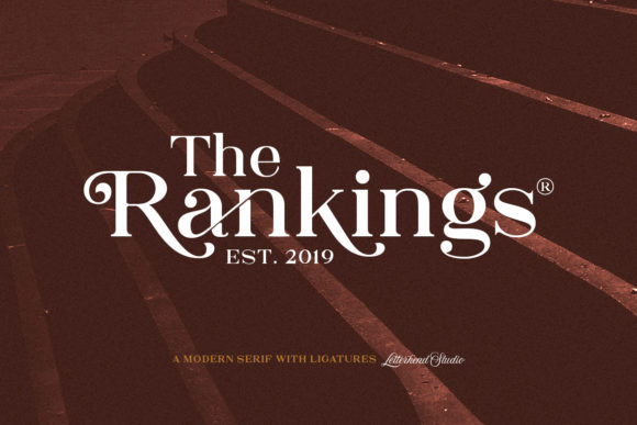 Print on Demand: The Rankings Serif Font By letterhend