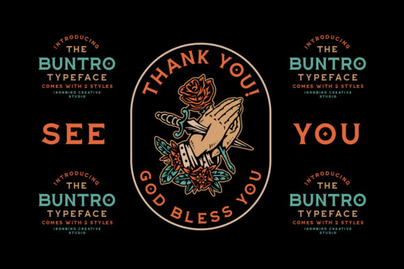 Print on Demand: The Buntro Display Font By ironbirdcreative - Image 11