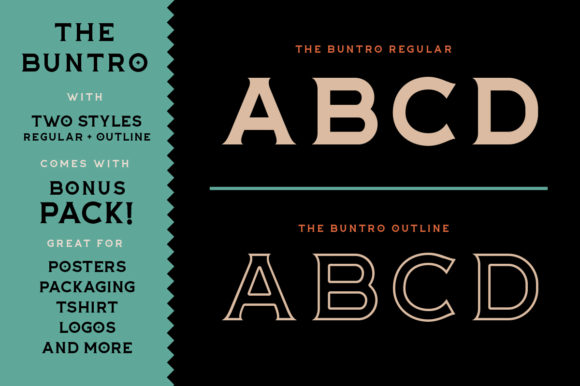 Print on Demand: The Buntro Display Font By ironbirdcreative - Image 2