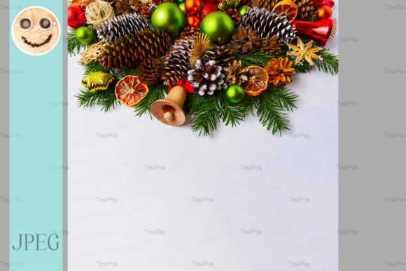 Print on Demand: Christmas Arrangement with Fir Branches Graphic Holidays By TasiPas
