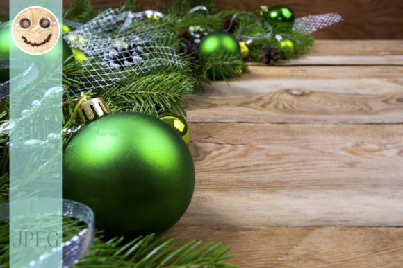 Print on Demand: Christmas Green Baubles Graphic Holidays By TasiPas - Image 1