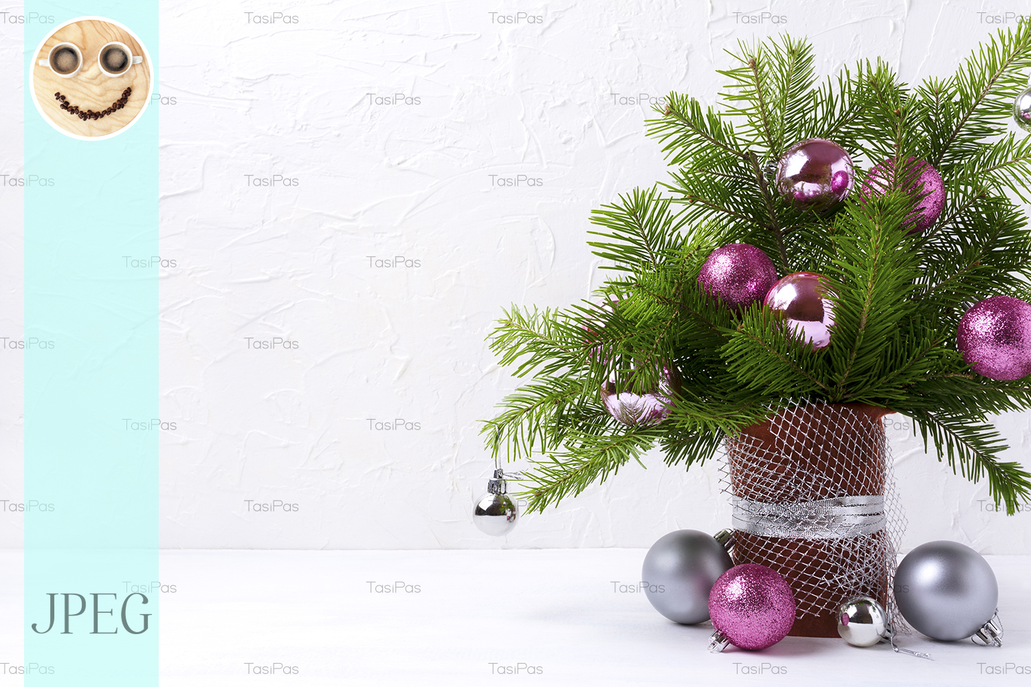 Download Free Christmas Centerpiece Graphic By Tasipas Creative Fabrica for Cricut Explore, Silhouette and other cutting machines.