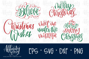 Hand Lettered Christmas Graphic Crafts By affinitygrove