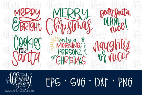 Download Free Christmas Bundle Graphic By Affinitygrove Creative Fabrica for Cricut Explore, Silhouette and other cutting machines.