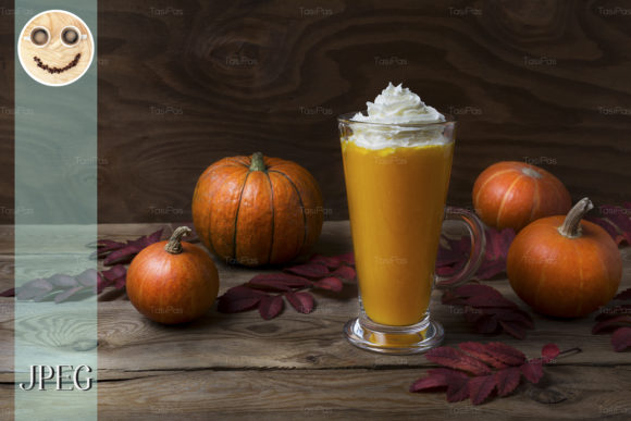 Print on Demand: Vegan Pumpkin Spice Latte Graphic Food & Drinks By TasiPas
