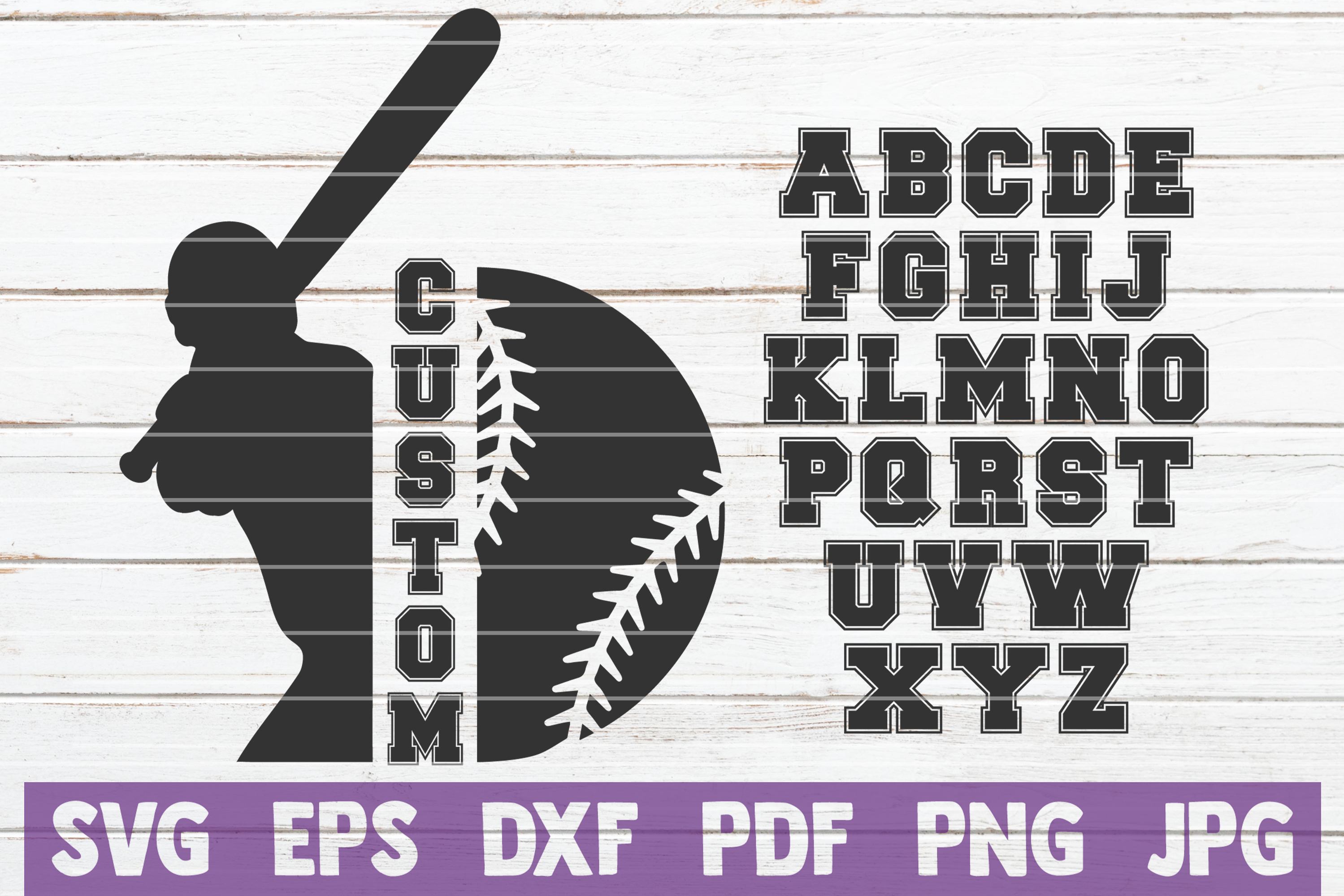 Download Free Baseball Custom Frame Graphic By Mintymarshmallows Creative for Cricut Explore, Silhouette and other cutting machines.